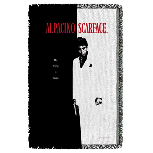 Scarface Poster Woven Tapestry Throw Blanket