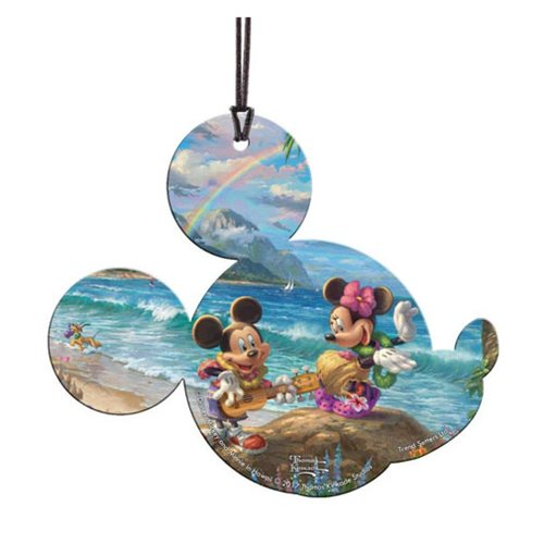 Disney Mickey Mouse and Minnie Mouse in Hawaii Hanging Acrylic Print