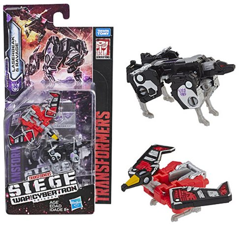 Transformers Generations War for Cybertron: Siege Micromaster WFC-S18 Ravage and Laserbeak