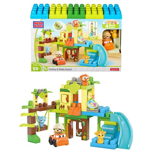 Mega Bloks First Builders Swing and Slide Safari
