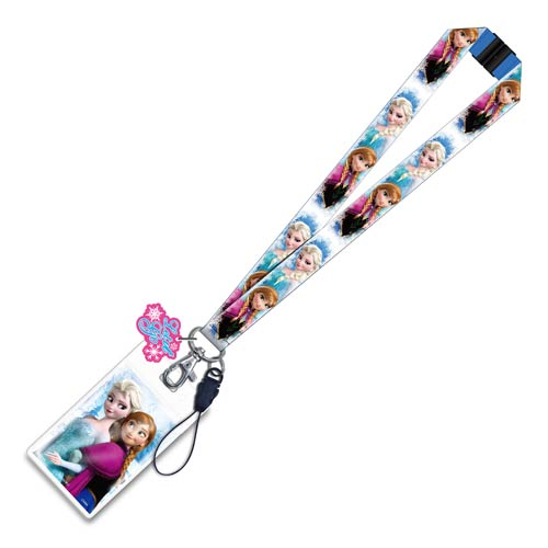 Disney Frozen Elsa and Anna Lanyard Key Chain with ID Holder