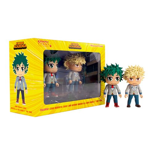 My Hero Academia Deku and Bakugo School Uniform 3-Inch Kawaii Titan Vinyl Figure 2-Pack - 2019 Fall Convention Exclusive