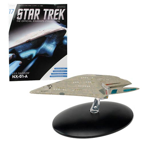 Star Trek Starships USS Dauntless Vehicle with Collector Magazine