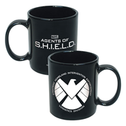 Agents of SHIELD Logo 20 oz. Black Ceramic Mug, Not Mint
