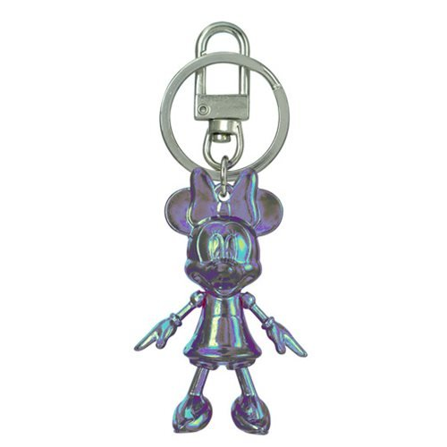 Minnie Mouse October Opal Pewter Dangle Key Chain
