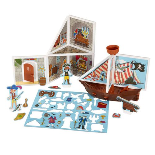 Magnetivity Pirate Cove Magnetic Building Play Set