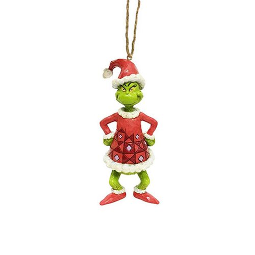 Dr. Seuss The Grinch Grinch Dressed as Santa Ornament by Jim Shore