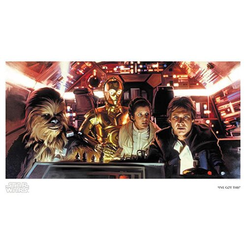 Star Wars I've Got This by Brian Rood Paper Giclee Art Print