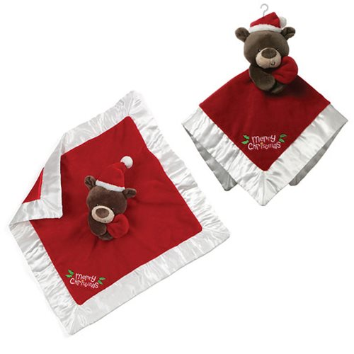 My First Christmas Santa Bear Lovey Plush Blanket