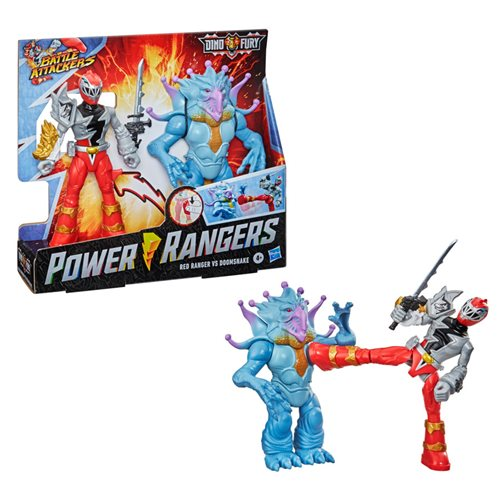 Power Rangers Battle Attackers Action Figures Wave 1 Set