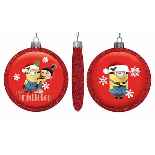 Despicable Me Minions 100mm Glass Disc Ornament