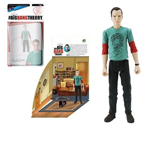 The Big Bang Theory Sheldon in Riddler T-Shirt 3 3/4-Inch Action Figure Series 2