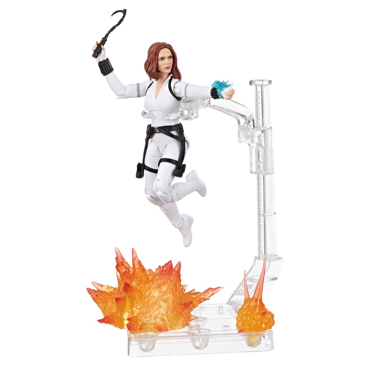 Black Widow Marvel Legends 6-Inch Deluxe White Costume /& Stand IN STOCK