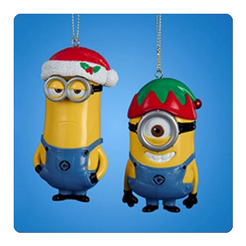 Despicable Me Minions Injection Mold Holiday Ornament Set