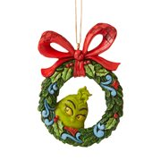 Dr. Seuss The Grinch Peeking Thru Wreath Ornament by Jim Shore