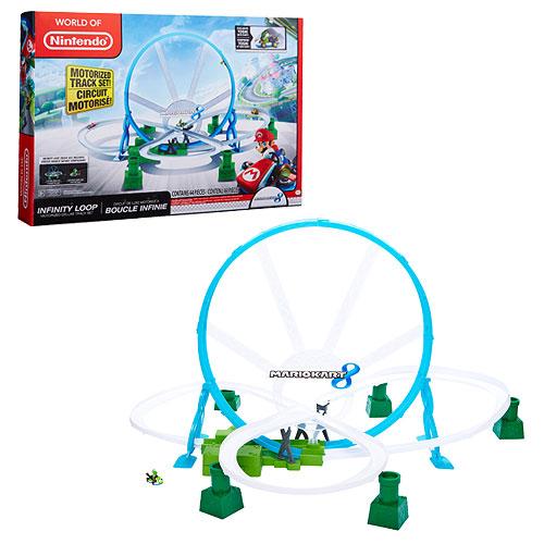 Nintendo Super Mario Bros  Yoshi Kart 8 Shock Racers Deluxe Track Playset