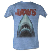 Jaws Stressed Out Light Blue T-Shirt