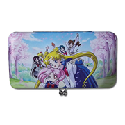 Sailor Moon School Girls and Cherry Blossoms Hinge Wallet