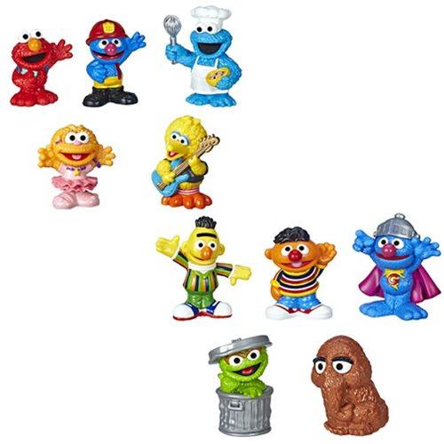 "Sesame Street Characters 1/"" Tall Set of 11 Mini Magnets"