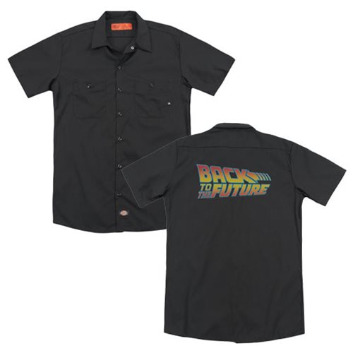 Back to the Future Logo Work Shirt