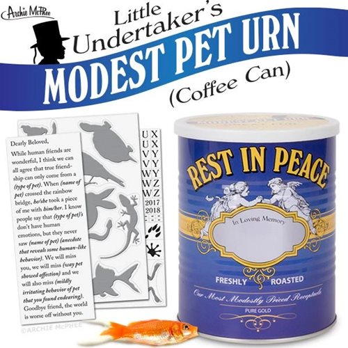Little Undertaker's Modest Pet Urn Coffee Can