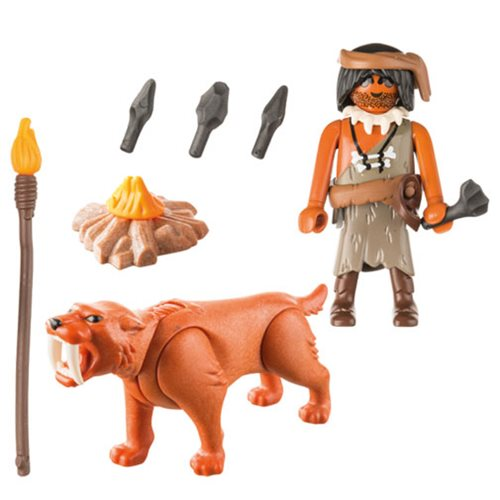 Playmobil Special Plus 9442 Caveman with Sabertooth Tiger