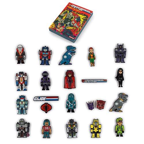 Transformers vs  G I  Joe Enamel Pin Series Display Box