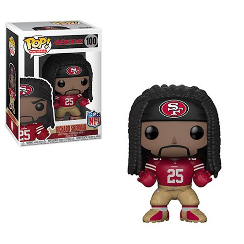 NFL Richard Sherman Niners Red Pop! Vinyl Figure #100
