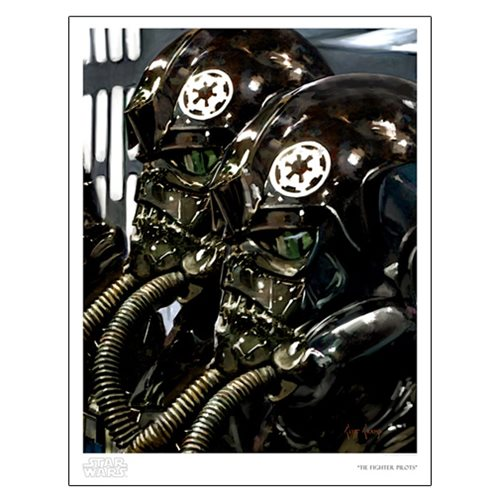 Star Wars TIE Fighter Pilots by Cliff Cramp Paper Giclee Art Print