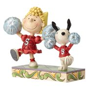 Peanuts Jim Shore Cheerleading Snoopy and Sally Statue