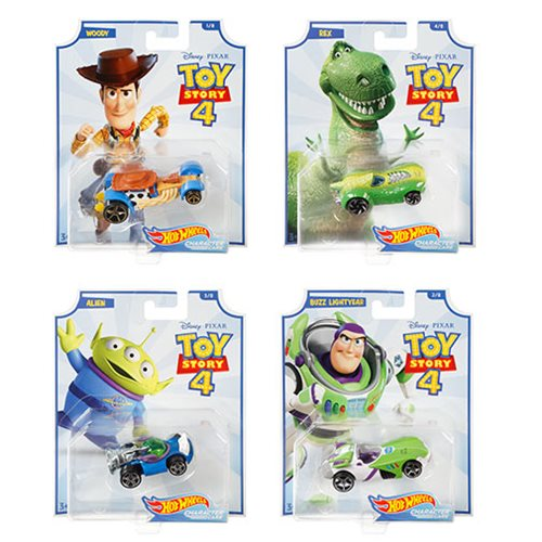 Toy Story 4 Hot Wheels Character Cars Mix 1 Case