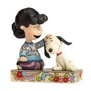 Peanuts Jim Shore Lucy Petting Snoopy Statue