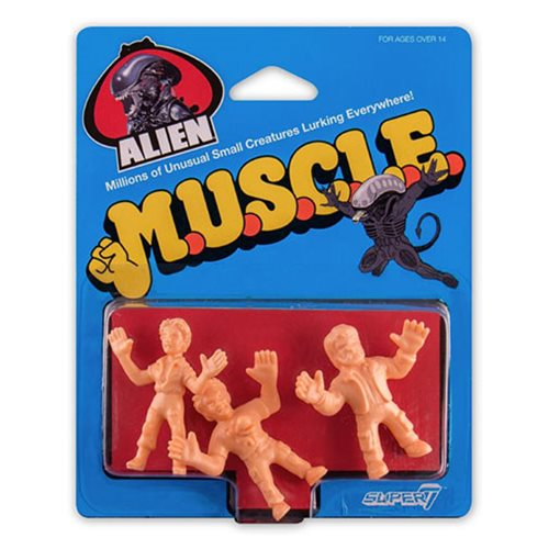 Alien M.U.S.C.L.E. Kane with Chestburster, Lambert, Dallas Mini-Figures