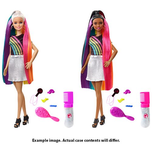Barbie Rainbow Sparkle Hair Doll Case