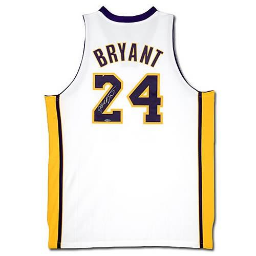 NBA Kobe Bryant Signed Lakers White (Alternate) Jersey