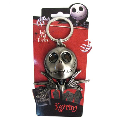The Nightmare Before Christmas Jack Skellington Head Pewter Key Chain
