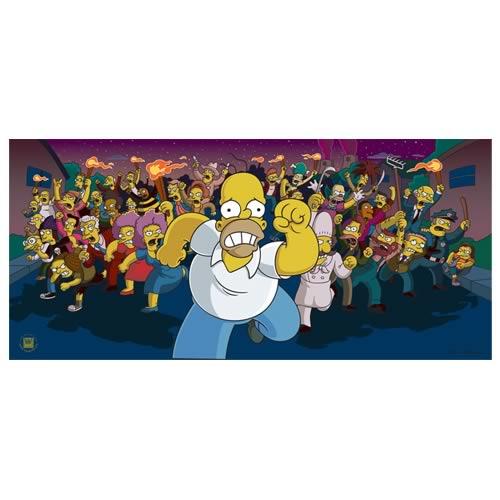Simpsons Movie Run Homer Run Paper Giclee