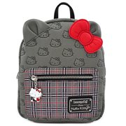Hello Kitty Grey Plaid Mini Backpack