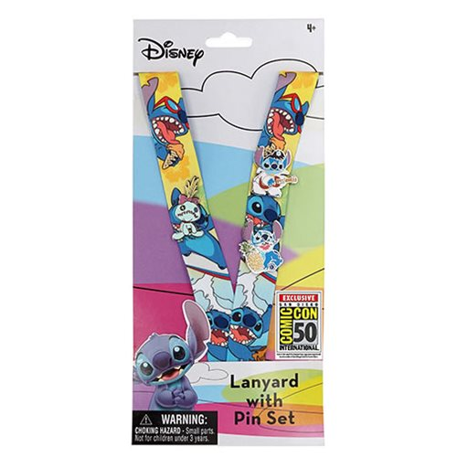 Lilo & Stitch Lanyard and Pin Set - San Diego Comic-Con 2019 Exclusive