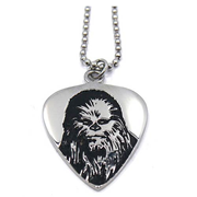 Star Wars Chewbacca Guitar Pick Stainless Steel Pendant Necklace