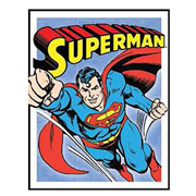 Superman Panels DC Comics Retro Tin Sign