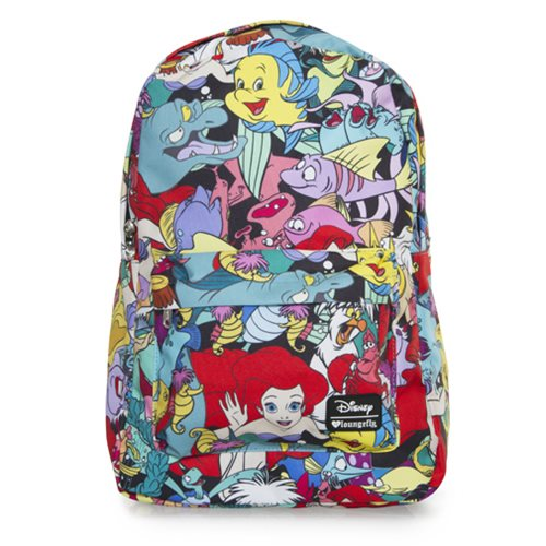 Little Mermaid Ariel Character Print Backpack