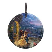 Beauty and the Beast Dancing in the Moonlight Thomas Kinkade Starfire Prints Hanging Glass Ornament