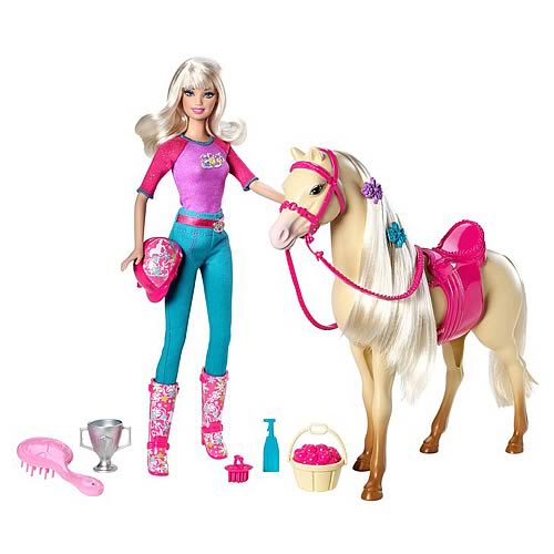 Barbie and Tawny Horse Doll Set