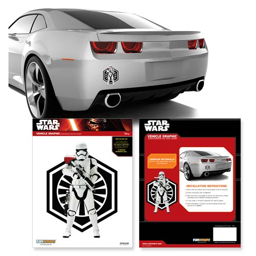 Star Wars: The Force Awakens Stormtrooper and First Order Symbol Car Decal