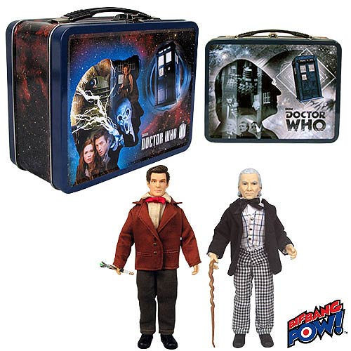 Doctor Who 1st and 11th Doctor 8-inch Action Figures in Tin Tote - Convention Exclusive