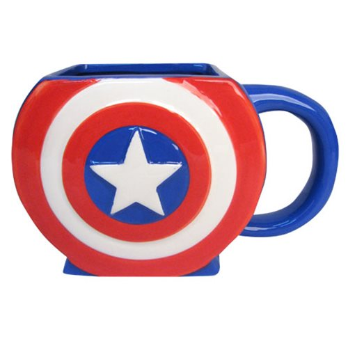 Captain America Shield 3D Mug