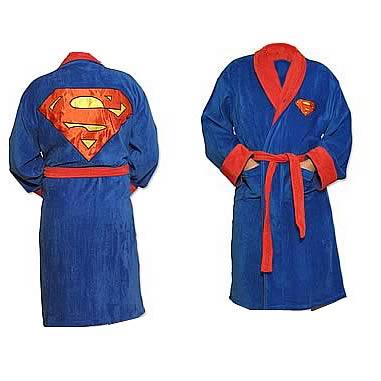 manufacturer Toddler//Little Kid//Big Kid Blue Superman Boys Fleece Bathrobe Robe