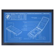 Star Trek: Discovery Communicator Blueprint Framed Art Print