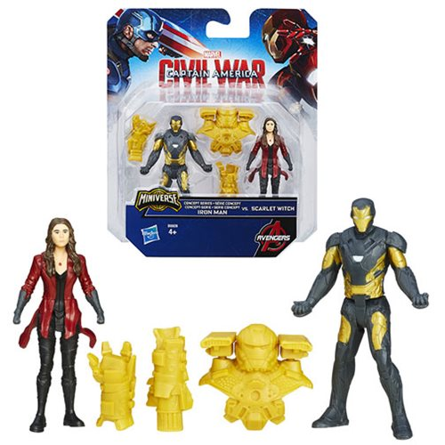Captain America Civil War Concept Series Iron Man vs. Scarlett Witch 2 1/2-Inch Action Figures
